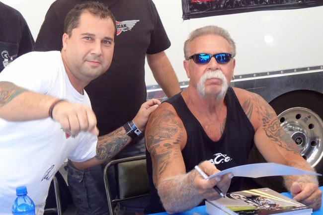 Fran Manen with Paul Teutul of American Chopper