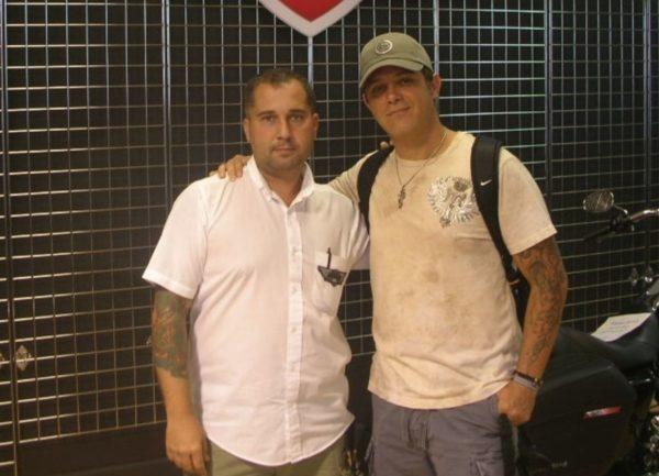 Fran Manen with Alejandro Sanz