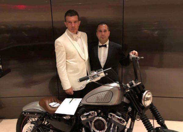 Fran Manen with Antonio Banderas